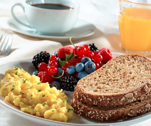bread, healthy, and fruit image