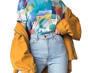 fashion, yellow, and jeans image