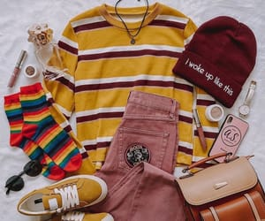 outfit, pink, and sneakers image