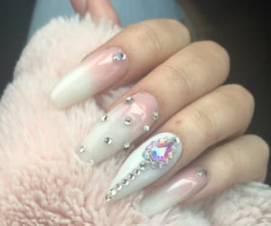 fun, glitter, and nails image