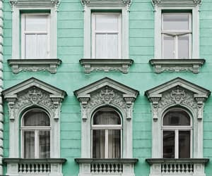 architecture, facade, and green image