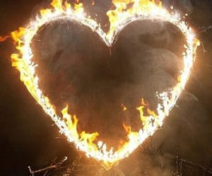 theme, heart, and fire image