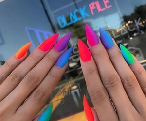 nails and rainbow image