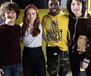 caleb, millie, and gaten image