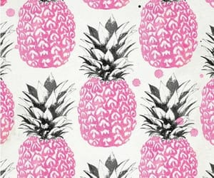 doodles, pineapple, and pink image