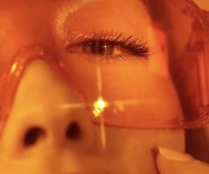 orange, aesthetic, and glasses image