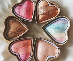 beauty, heart, and makeup image