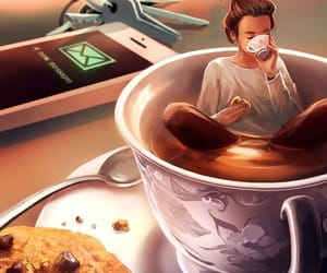 art, coffee, and Cookies image