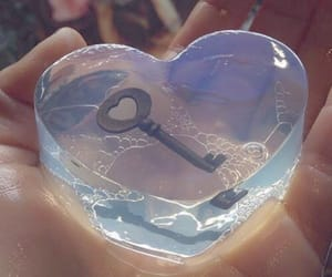 heart, key, and soap image