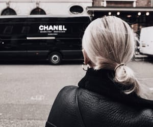 blonde hair, chanel, and coat image
