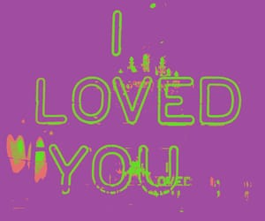 green, hearts, and I Love You image