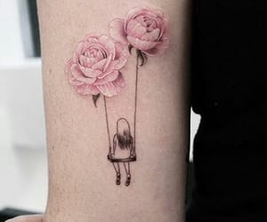 flowers, ink, and girly image