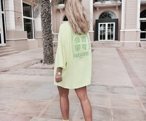 blonde, green, and chic image
