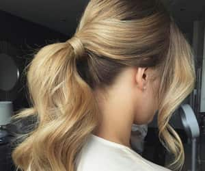hairstyle, ponytail, and hair image