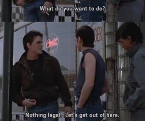 the outsiders, dallas winston, and Ponyboy Curtis image