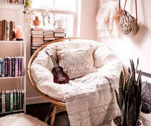 bedroom, blanket, and books image