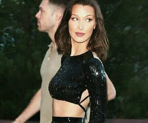 black, style, and bella hadid image