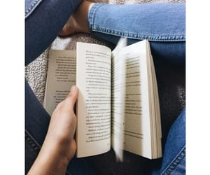 books, bed, and reading image
