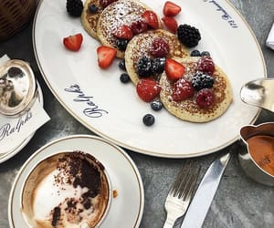 berries, breakfast, and coffee image