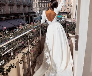 beauty, dress, and wedding image