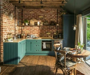 kitchen, home, and blue image