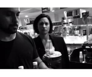 black and white, couple, and demetria devonne lovato image