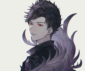 anime, boy, and red eyes image