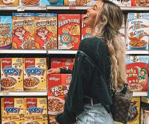 cereal, outfit, and supermarket image