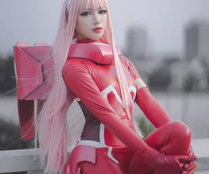 cosplay, zero two, and darling in the franxx image