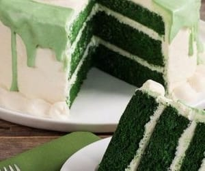 cake, food, and green image