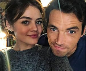 lucy hale, ezria, and pll image