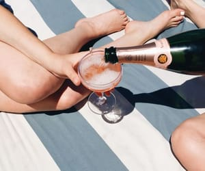 champagne, summer, and aesthetic image