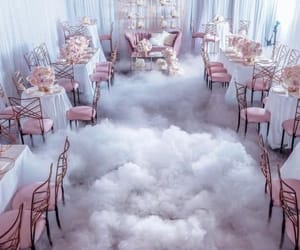 clouds, decoration, and pink image