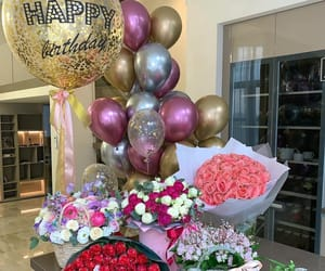 flowers, rose, and birthday image