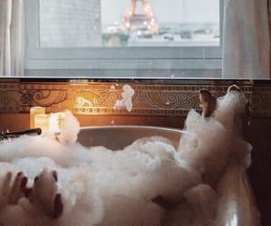 paris, bath, and france image