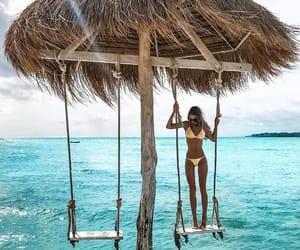 beach, body, and girl image