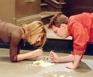 friends, chandler, and rachel image