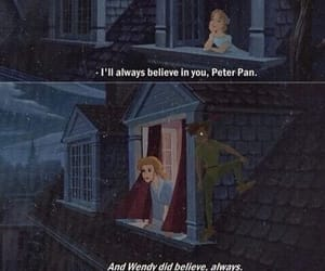 peter pan, quotes, and wendy image