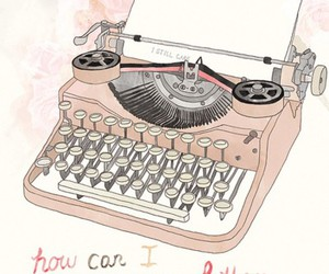 typewriter, art, and letters image