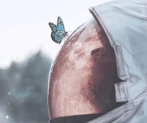 butterfly, space, and astronaut image