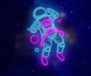 space, wallpaper, and neon image