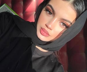 girl, hijab, and makeup image