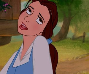 cartoon, disney, and belle image
