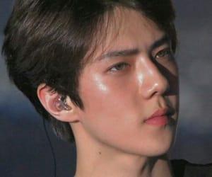 exo, eyes, and sehun image