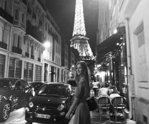 black and white, photographie, and tour eiffel image