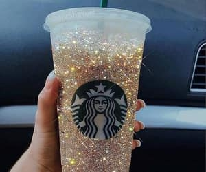 coffee, glitter, and drink image