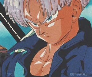 anime, trunks, and dbz image