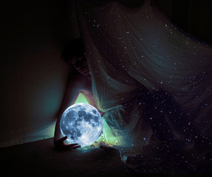 moon, light, and stars image