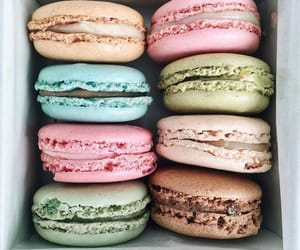 dessert, ‎macarons, and food image