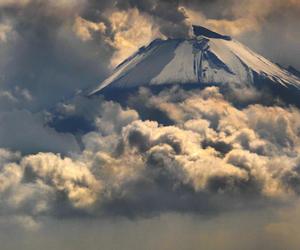 nature, smoke, and volcano image